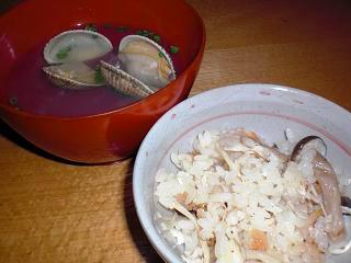 鯛飯とハマグリのお吸い物.JPG