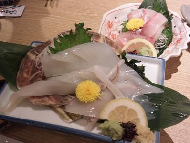 てっぽう茶屋 イカ刺し 尼崎グルメ情報.JPG