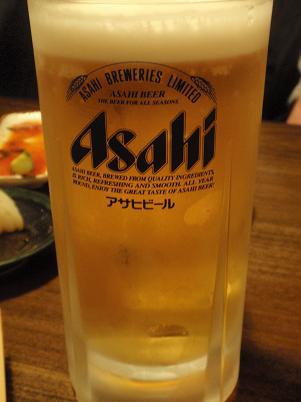 とりの巣 スーパードライ生ビール大.JPG