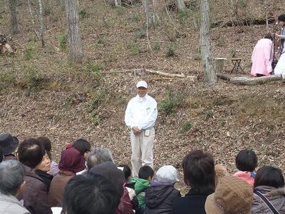 川西桜情報 西沢さんの挨拶.JPG