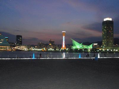 神戸プラージュ 夜景.JPG