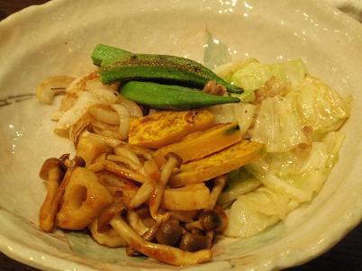 神戸鉄板焼 おくの様 焼き野菜.JPG