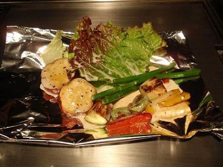 芋の花 春野菜のチーズフォンデュ1.JPG