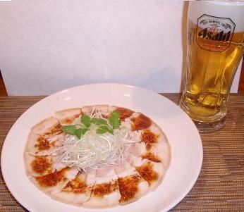 長江 ゆで豚肉のにんにく醤油がけ2.JPG