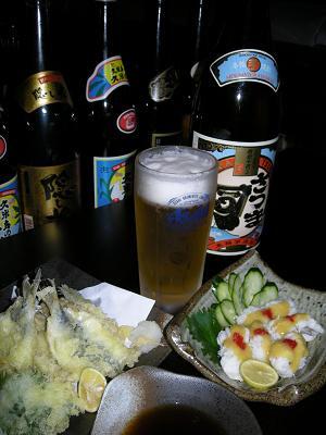 甍様 天ぷらとハモ湯引き.JPG